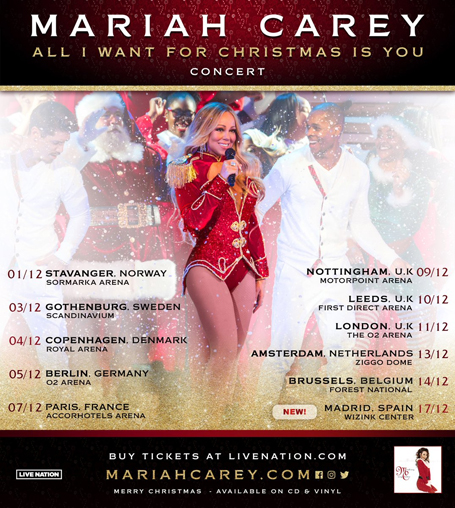 Mariah Carey's Christmas tour is heading to Madrid | mcarchives.com