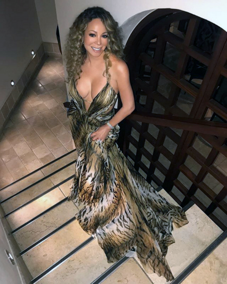 Mariah shows some skin while wearing tiger striped gown | The Mariah ...