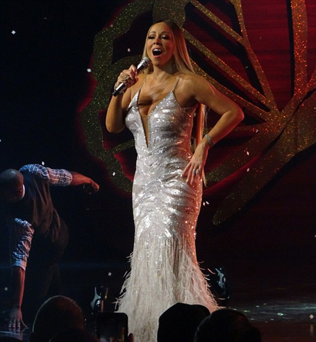 Mariah Carey dazzles in silver sequin gown | The Mariah Carey Archives