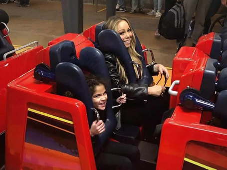 Mariah Carey takes the twins to Disneyland | mcarchives.com