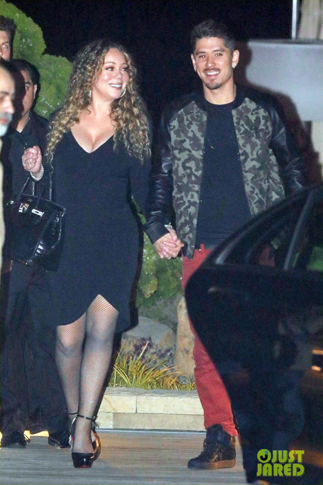 Mariah Carey all smiles after a dinner date | mcarchives.com