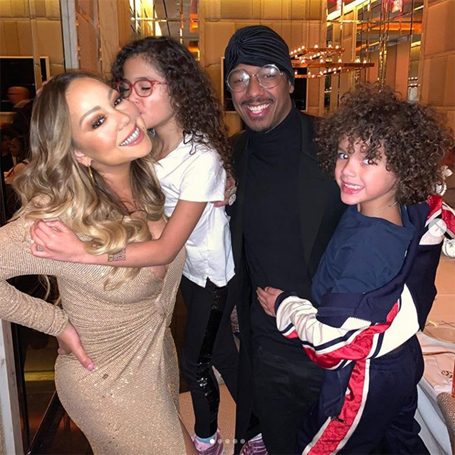 Mariah Carey celebrates Thanksgiving with Nick Cannon | mcarchives.com