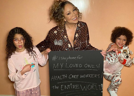Mariah Carey and kids join #IStayHomeFor initiative | mcarchives.com