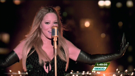 Mariah Carey's stuns performing on New Year's Eve | The ... Mariah Carey New Years Eve