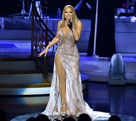Mariah Carey dazzles in sheer plunging looks | The Mariah Carey Archives